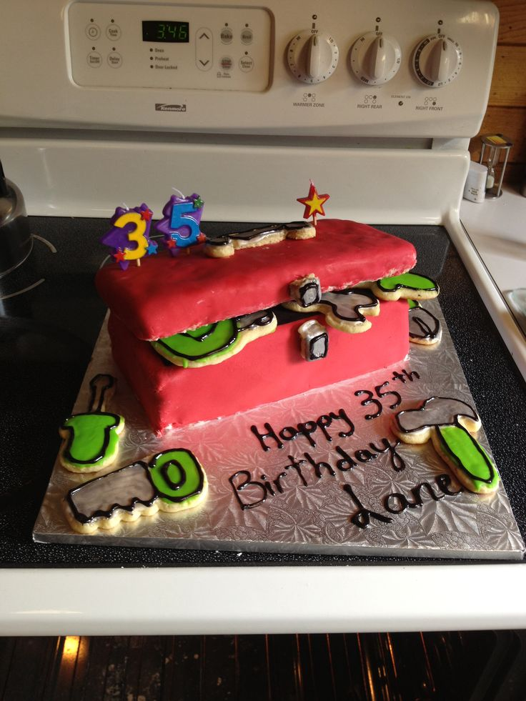 Pictures Of Tool Box Cakes