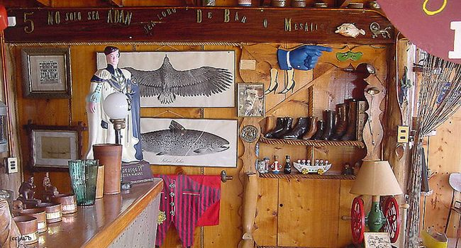 """Museo de Neruda,Chile.On the second floor of the La Sebastiana museum is the bar, behind which only Neruda was allowed to stand, while making drinks for his friends. And it was here that Neruda conceived the poetry of flavors and liquor known as the """"Coquetelón."""""""