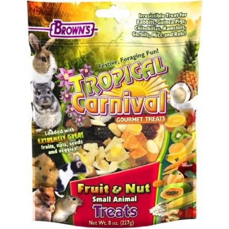 Brown's Tropical Carnival Fruit ; Nut Small Animal Treats, 8 Oz, Multicolor