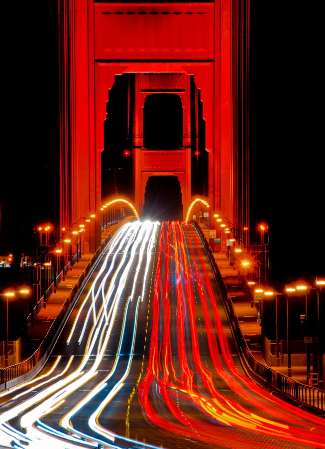 Sweeping Vistas Of The San Francisco Bay Area At Night Picture
