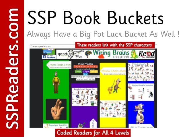 SSP Coded Reading Book Buckets from Wiring Brains Education