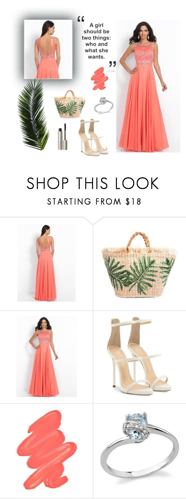 """A-line Scoop Chiffon Prom Dresses Long Formal Dresses for Juniors"" by johnnymuller on Polyvore featuring Giuseppe Zanotti, Obsessive Compulsive Cosmetics and Ilia"