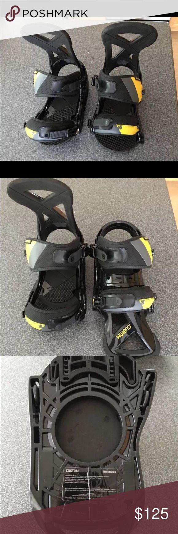 "Men's 2013 Burton ""Custom"" Bindings Men's 2013 Burton ""Custom"" snowboard bindings.  Size Large - only used once Burton Other"
