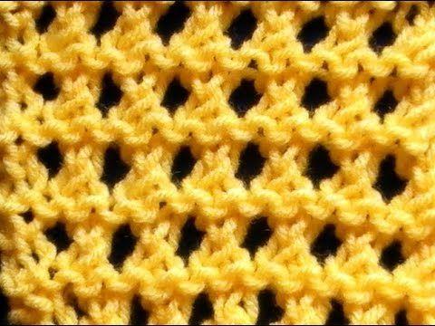 Como Tejer Punto Waffle-Waffle Stitch 2 Agujas (79) - YouTube