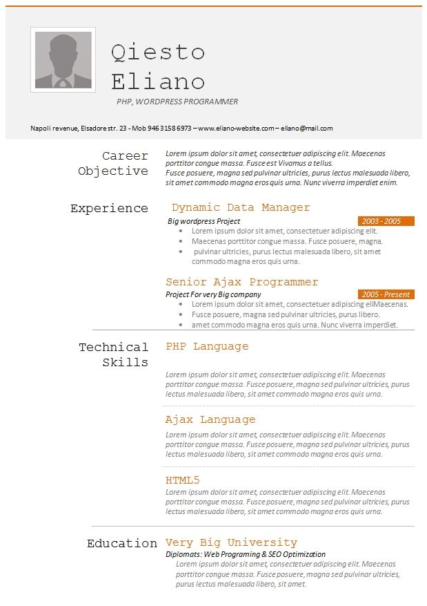 Programmers Resume Template Creativeresumeideas In 2020 Resume Template Resume Design Template Free Resume Template Download