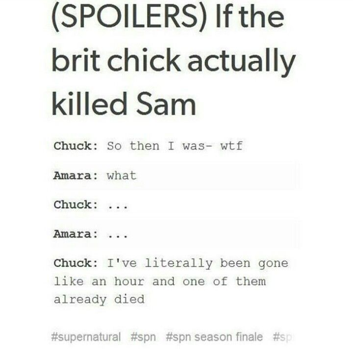 We know she didn't but still Tumblr Chuck Shurley Amara Supernatural