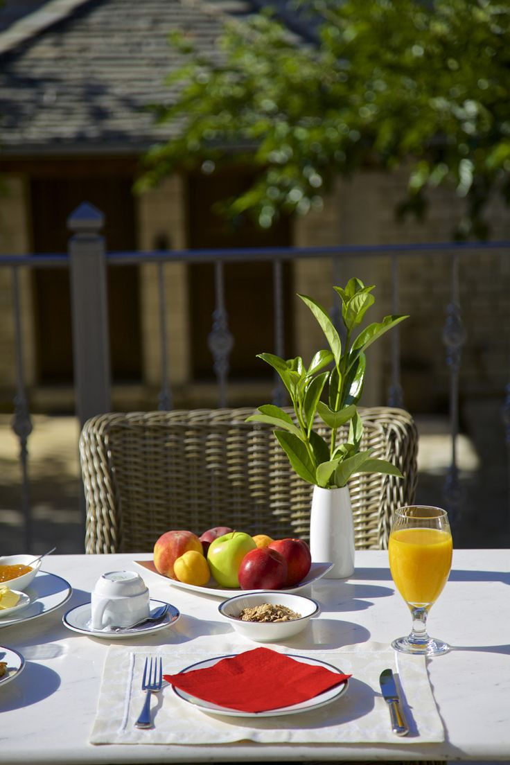 #Greek traditional buffet breakfast with homemade pies, omelettes with fresh eggs, local dairy products and yogurt, at #ZagoriSuites. http://www.tresorhotels.com/en/hotels/70/zagori-suites