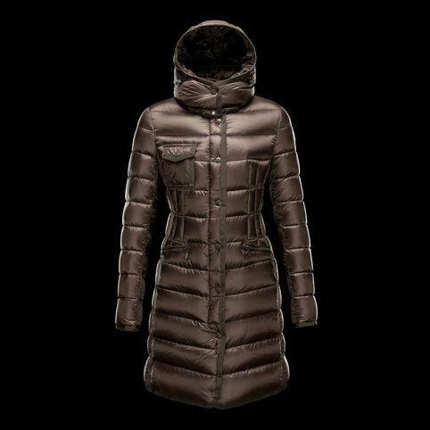 Moncler Coat For Women Brown MC1343