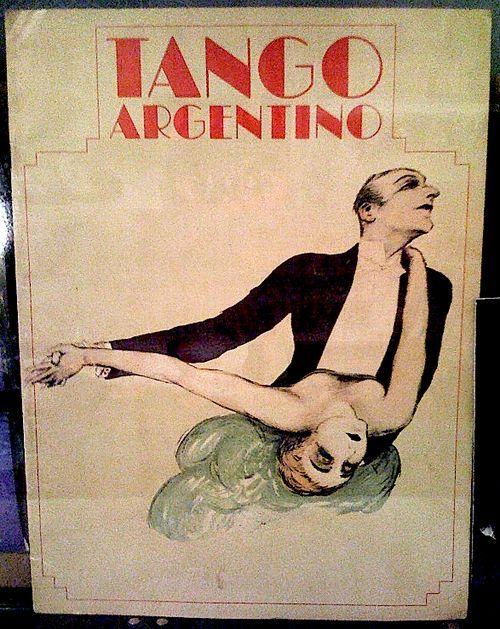 """Tango argentino"", broadway spectacle de Claudio Segovia et Hector Orezzoli, 1985, affiche: Marie Rivarola"