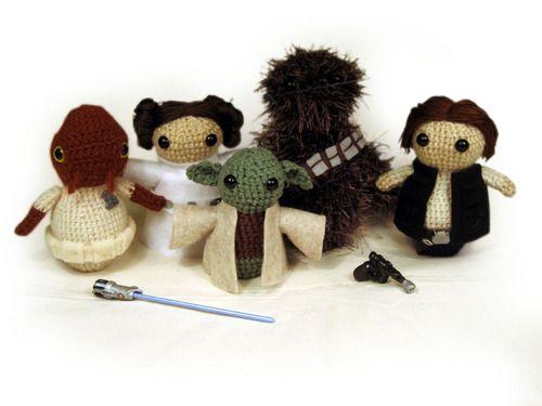 Star Wars Amigurumi dolls.
