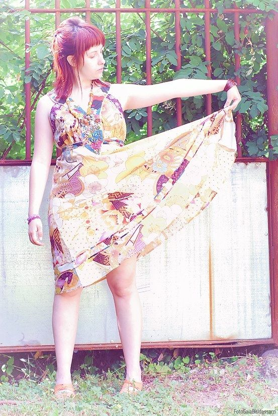 Wearing a Desigual dress in a summer day