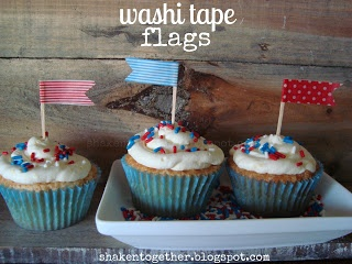 {create this} 5 five-minute patriotic cupcake toppers - Shaken Together