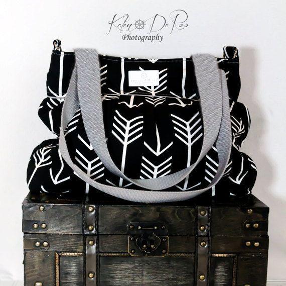 Arrow Large Diaper Bag   Stroller Bag  Bags by PreciousLittleTot