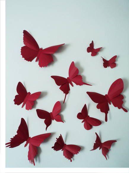 Cada kit contém 10 borboletas de diferentes tamanhos e formatos. Com as asas abertas elas variam de 3cm a 15 cm de largura.  Cada uma delas possui fita adesiva dupla face na parte detrás do corpinho para que els possam ser facilmente aplicadas em qualquer projeto, evento ou superfície da sua casa.  Onde você pode usa-las: - elas podem ser presas em fios de náilon e ficar ?voando? d. R$ 25,00