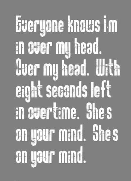 The Fray - Over My Head - song lyrics, music lyrics, songs, song quotes, song music
