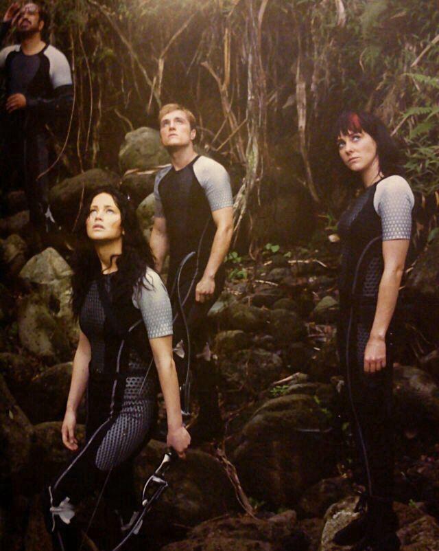 New catching fire still!! Beetee, Peeta, Katniss, and Johanna. :)