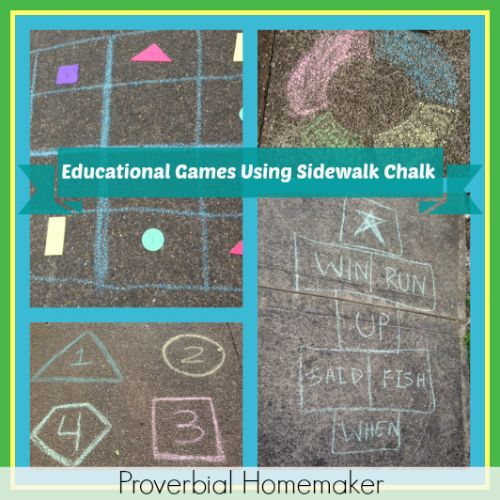 Educational Games Using Sidewalk Chalk