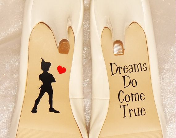 Peter Pan boda zapato calcomanías por CraftyWitchesDecor en Etsy
