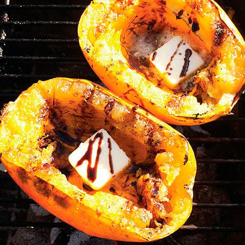 Grill-Roasted Spaghetti Squash with Molasses and Butter - FineCooking