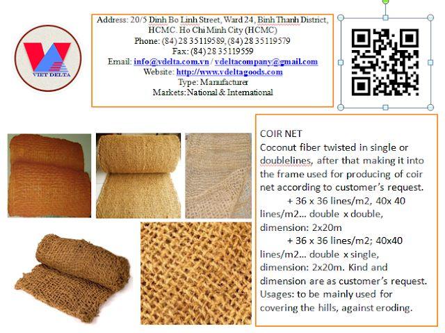 Coconut coir rope: COCONUT COIR NET