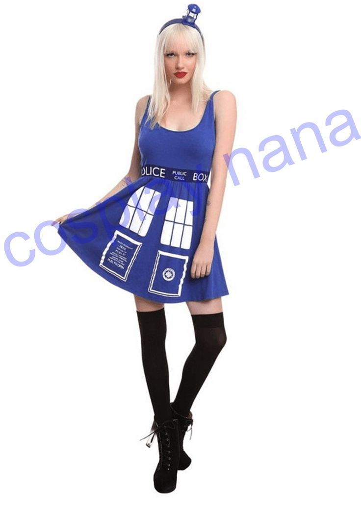 >> Click to Buy << DOCTOR WHO HER UNIVERSE TARDIS cosplay COSTUME DRESS Police telephone slim blue dress halloween costumes for women Christmas pre #Affiliate