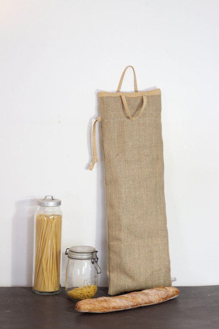 sac pain sac baguette en toile de jute iris et. Black Bedroom Furniture Sets. Home Design Ideas