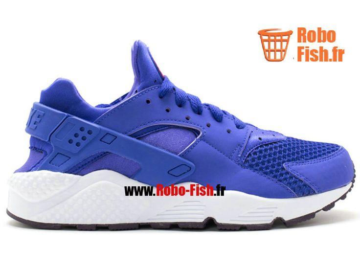 Nike Air Huarache - Chaussure Nike Running Pas Cher Pour Homme Violet/Blanc 318429-500