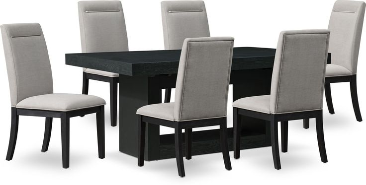 Banks Dining Table With 6 Chairs In, Black Dining Table Chairs Set Of 6