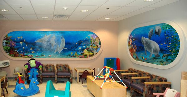 Fish wall mural finished kids room baby kids room wall for Childrens mural wallpaper