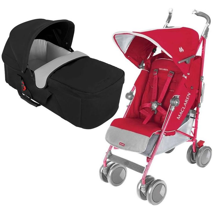 Maclaren Techno XT Stroller With CarryCot - Persian Rose ...