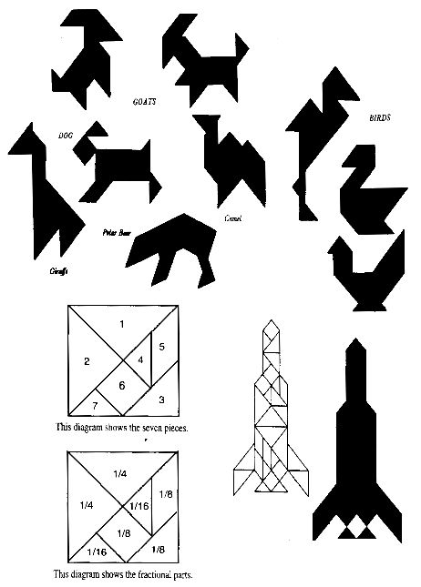 The Tangram Zoo--rocket ship for extra credit during space unit??