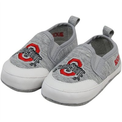 Ohio State Buckeyes Infant Ash Pre-Walk Shoes