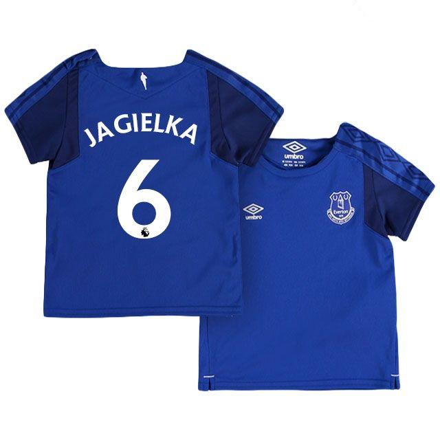 Youth Kit 17-18 Everton Shirt Jersey phil jagielka Home Top