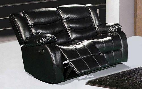 Gramercy Black Leather Reclining Loveseat. Gramercy Black Leather Reclining Loveseat