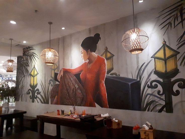 Mural for restaurant, mural restaurant, mural restoran, warung leko-Mural by iMural