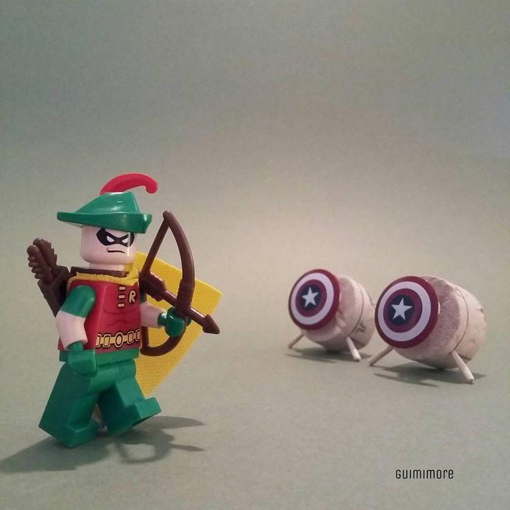 "DC OLYMPIC n°04 ""Archery"" ""Tir à l'Arc""  #rio2016 #JO2016 #olympic #Archery #DCCOMICS #Robin #RobinHood #LEGO #minifigures #minifig #legography #toy #afol"