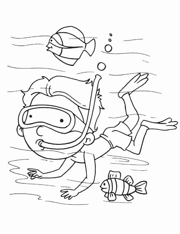 32 Scuba Diver Coloring Page In 2020 Coloring Pages Scuba Diver