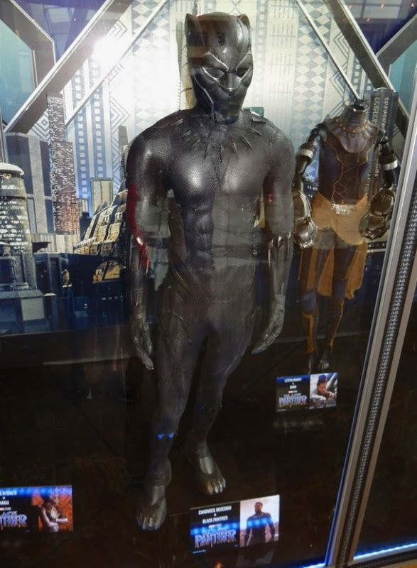 Black Panther Suit Costume Designed By Ruth E Carter For Black Panther 2018 Worn By Chadwick Boseman Movie Costumes Black Panther Movies