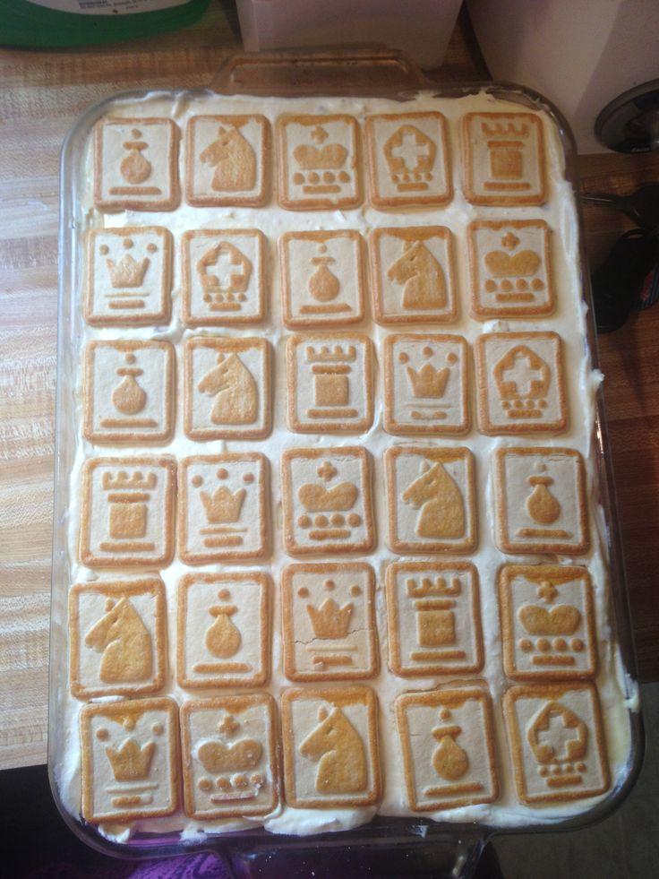 I made the chessmen banana pudding 11X13 pan 5 bags peppridge farm ...