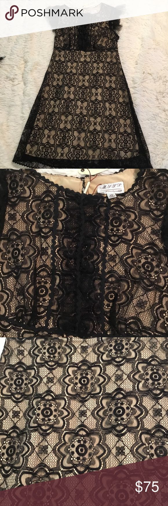 NWT Max Studio Specialty Products Dress NWT Super cuteBlack & Nude Dress. Size XS Perfect for New Years Eve!🎉 Max Studio Specialty Dresses