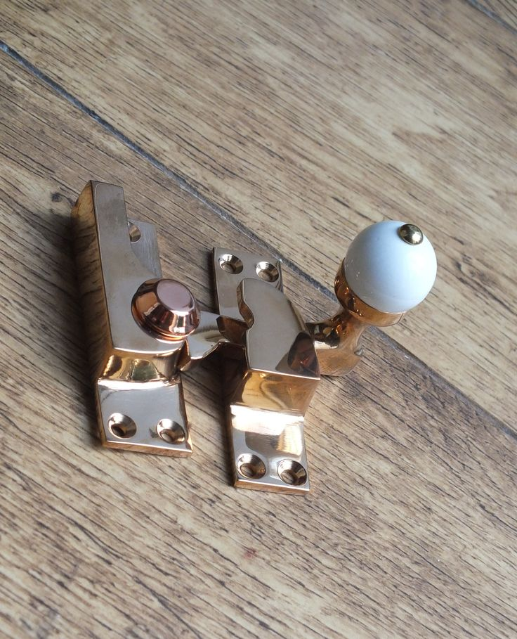A beautiful polished bronze (gunmetal) sash window fastener from British Ironmongery. Part of the solid, real sand cast bronze window furniture range. These are also available in antique bronze and many brass and plated finishes, making them suitable for both period and contemporary properties. Each piece is British made and individually finished by hand. Available from - http://www.britishironmongery.co.uk/shopsc/sash-window-fasteners/38.htm