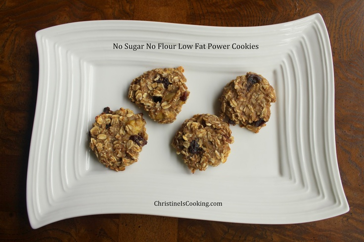 No Sugar No Flour Low Fat Power Cookies