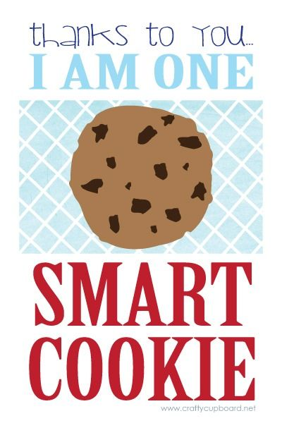 Teacher Gift: One Smart Cookie (Printable) - Crafty Cupboard