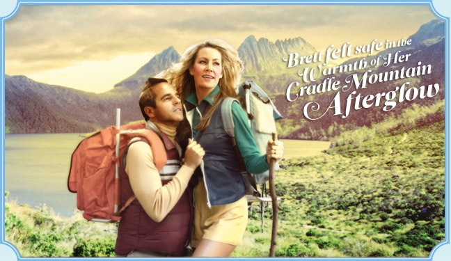 The Spring 2012 campaign from Tourism Tasmania. A little odd I think! The itineraries on the website look ok though.