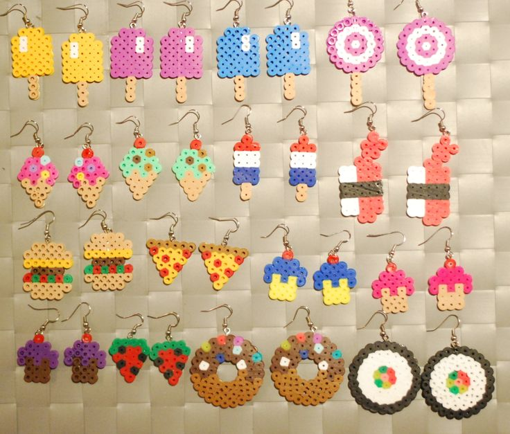 Food Items Perler Earrings/Keychain Popsicle by merkittenjewelry, $3.00