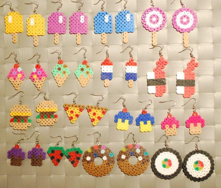 Food Items Perler Earrings/Keychain Popsicle  by merkittenjewelry, $3.00