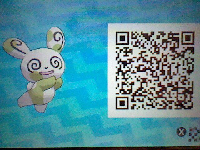 My CosmiCharlie, the Shiny Spinda! Pokemon Sun Moon QR code!