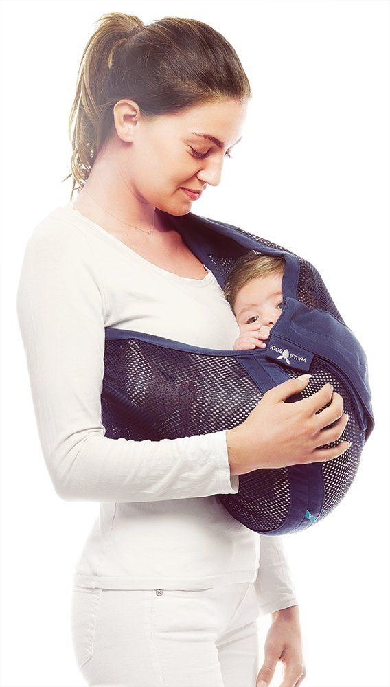 90dff974d38 Wallaboo Connection Air Easy Adjustable Ergonomic Soft and Airy Mesh Fabric  Baby Sling Blue --