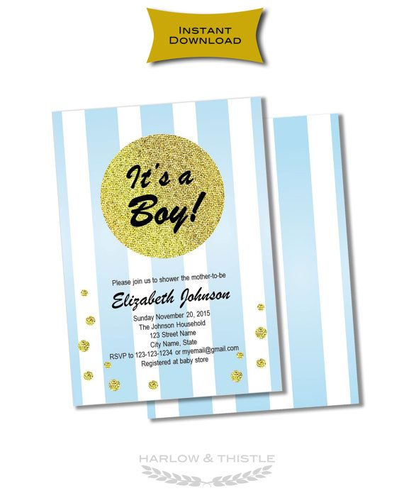 INSTANT DOWNLOAD two-sided editable printable by HarlowAndThistle