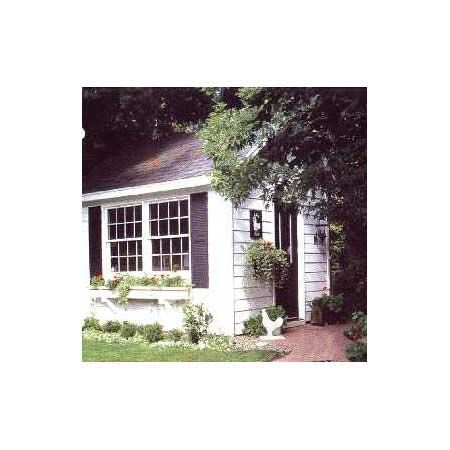 craft cottage project plan 501692 foot shed features cost saving finds such as salvaged windows a bargain bin door and manufactured wood siding